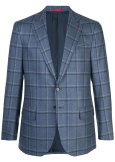 Isaia plaid blazer