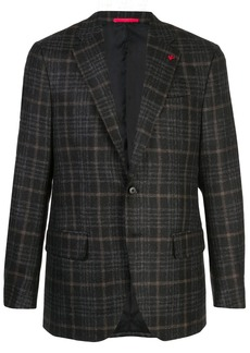 Isaia plaid wool blazer