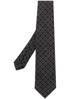 Isaia print woven tie