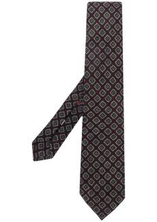 Isaia printed design tie
