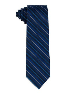 Isaia Printed Multi-Stripe Wool Tie
