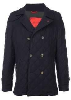 Isaia quilted double-breasted coat
