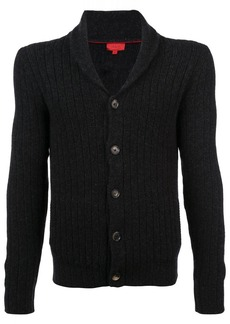 Isaia ribbed knit button cardigan