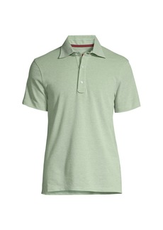 Isaia Short-Sleeve Cotton Polo