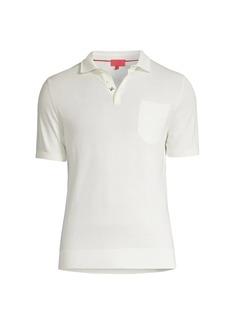 Isaia Short-Sleeve Pocket Polo Shirt