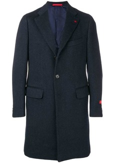 Isaia single breasted midi coat