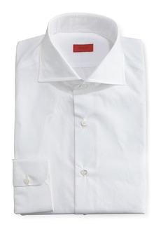Isaia Slim Solid Dress Shirt  White