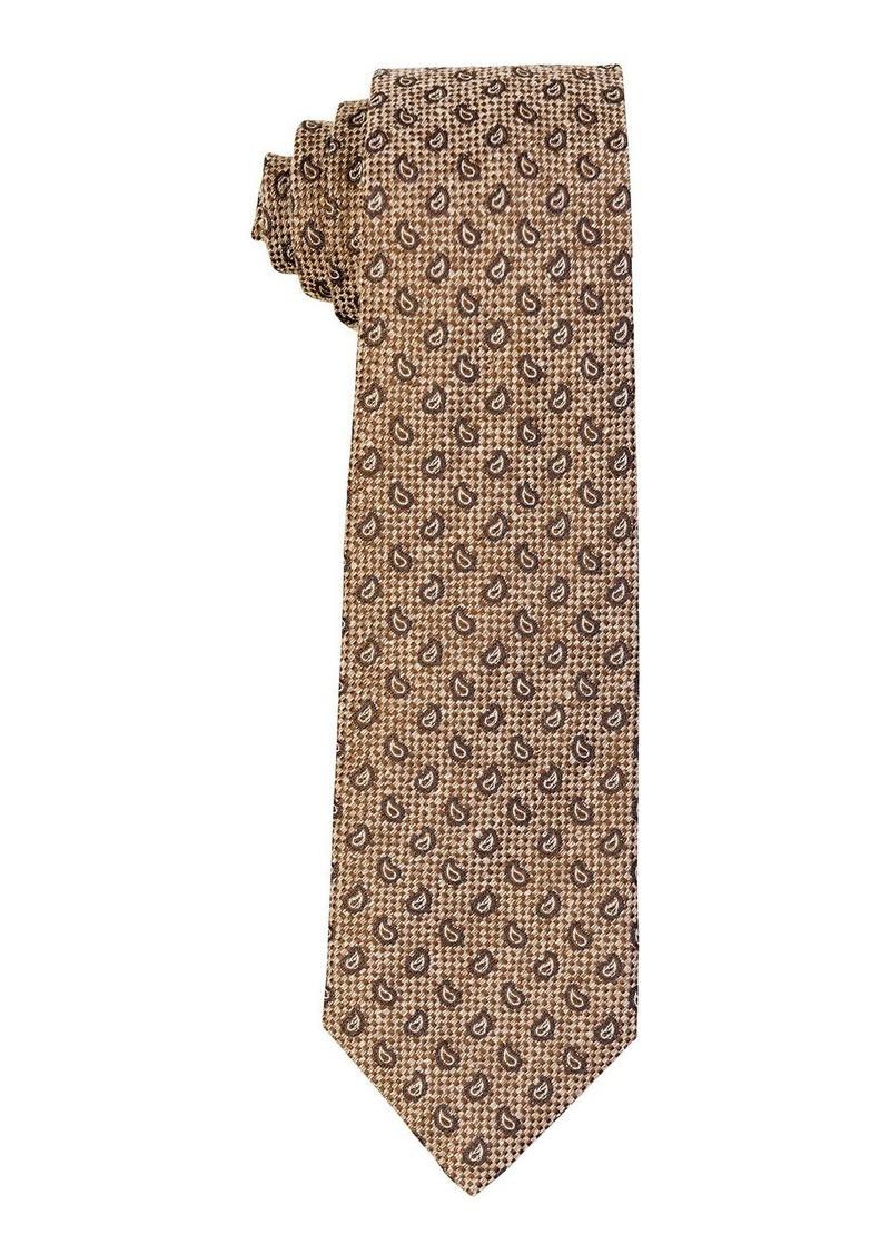 Isaia Small-Paisley Silk Tie