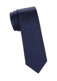 Isaia Solid-Color Silk Tie