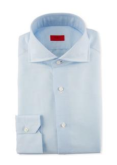 Isaia Solid Cotton Dress Shirt