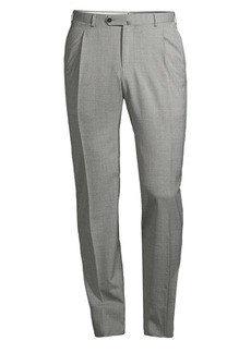 Isaia Solid Dynamic Comfort Wool-Blend Trousers