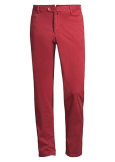 Isaia Solid Gabardine Stretch Chinos