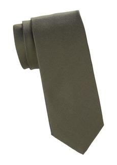 Isaia Solid Silk Tie