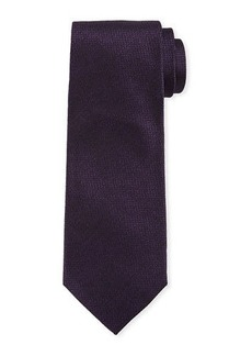 Isaia Solid Textured Silk Tie