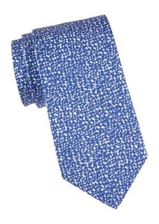 Isaia Splatter Silk Tie
