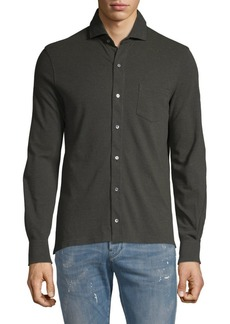 Isaia Spread Collar Shirt