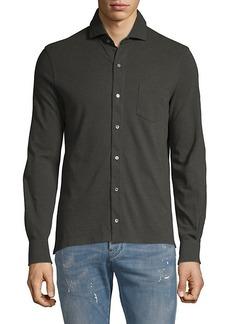 Isaia Spread Collar Shirt