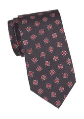 Isaia Square Dot Silk Tie
