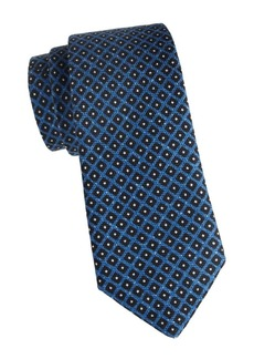 Isaia Square Wool & Silk Tie