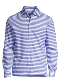 Isaia Stripe Cotton Shirt