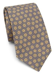 Isaia Swirl Silk Tie