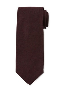 Isaia Textured Solid Silk Tie