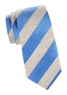 Isaia Textured Stripe Silk Tie