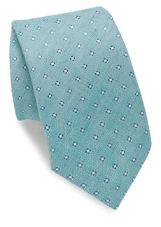 Isaia Tonal Washed Polka-Dot Tie