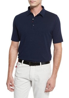 Isaia Washed Pique Polo Shirt