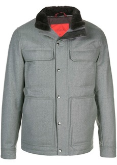 Isaia wool windbreaker jacket