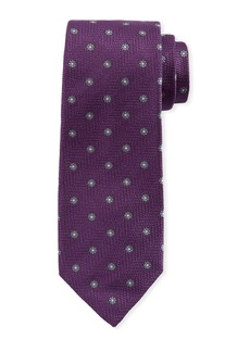 Isaia Woven Floral Silk Tie