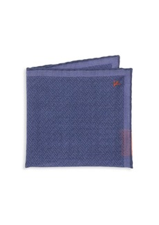 Isaia Woven Wool Pocket Square