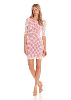 Ivy & Blu Maggy Boutique Women's Three-Quarter Sleeve Lace Sheath Dress