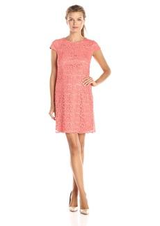 Ivy & Blu Women's Short Sleeve Lace T-Shirt Dress