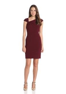 Ivy & Blu Women's Sleeveless Cinched Shoulder Sheath Dress