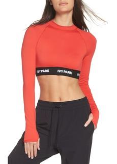 IVY PARK® Logo Tape Open Back Crop Top