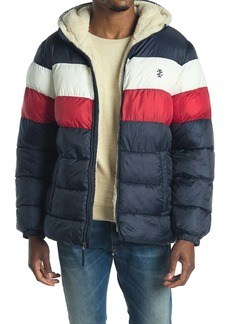 Izod Faux Shearling Lined Quilted Jacket