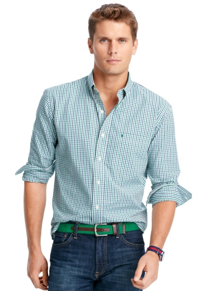 Izod izod big and tall long sleeve checked shirt casual for Big and tall casual shirts