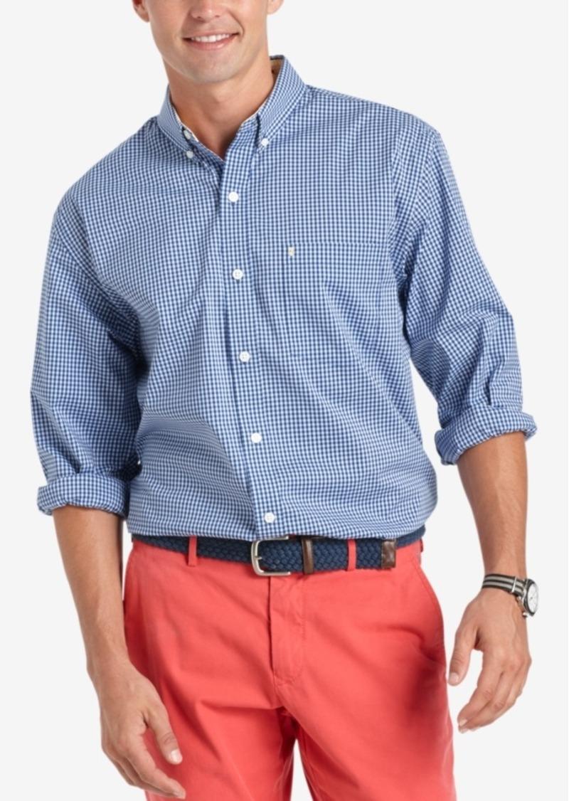 Izod Gingham Long-Sleeve Shirt