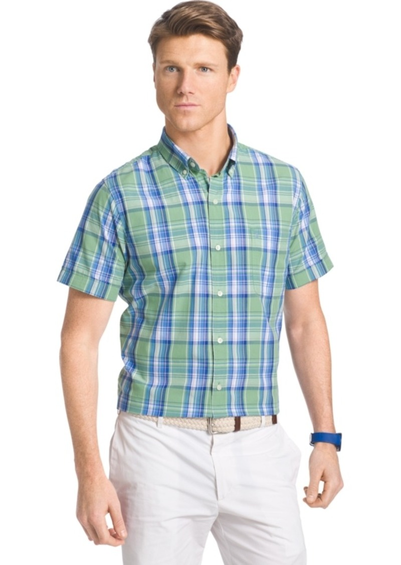 Izod Large-Plaid Shirt