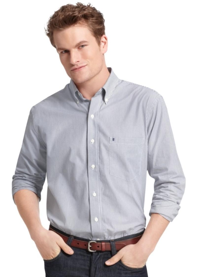 Izod Long Sleeve Stripe Essential Shirt