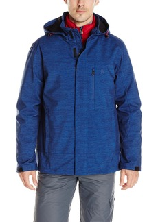 IZOD Men's 3-In-1 Active Soft Shell Jacket With Removable Quilted Inner Jacket  X-Large