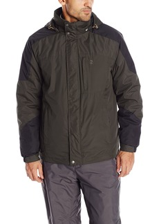IZOD Men's 3-In-1 Convertible Systems Jacket With Puffer Inner Jacket