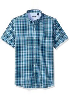 IZOD Men's Advantage Performance Easycare Plaid Short Sleeve Shirt