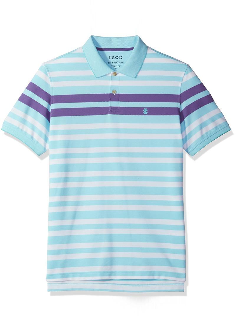 IZOD Men's Advantage Performance Stripe Polo (Regular and Slim Fit)
