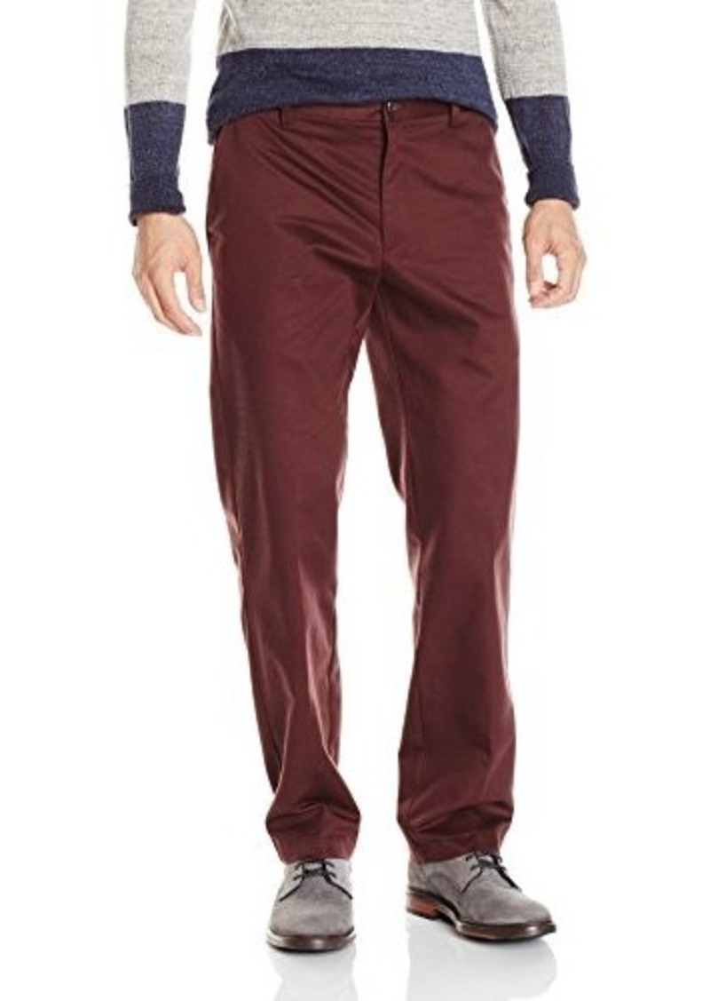 IZOD Men's American Chino Flat Front Slim Fit Pant  34x32