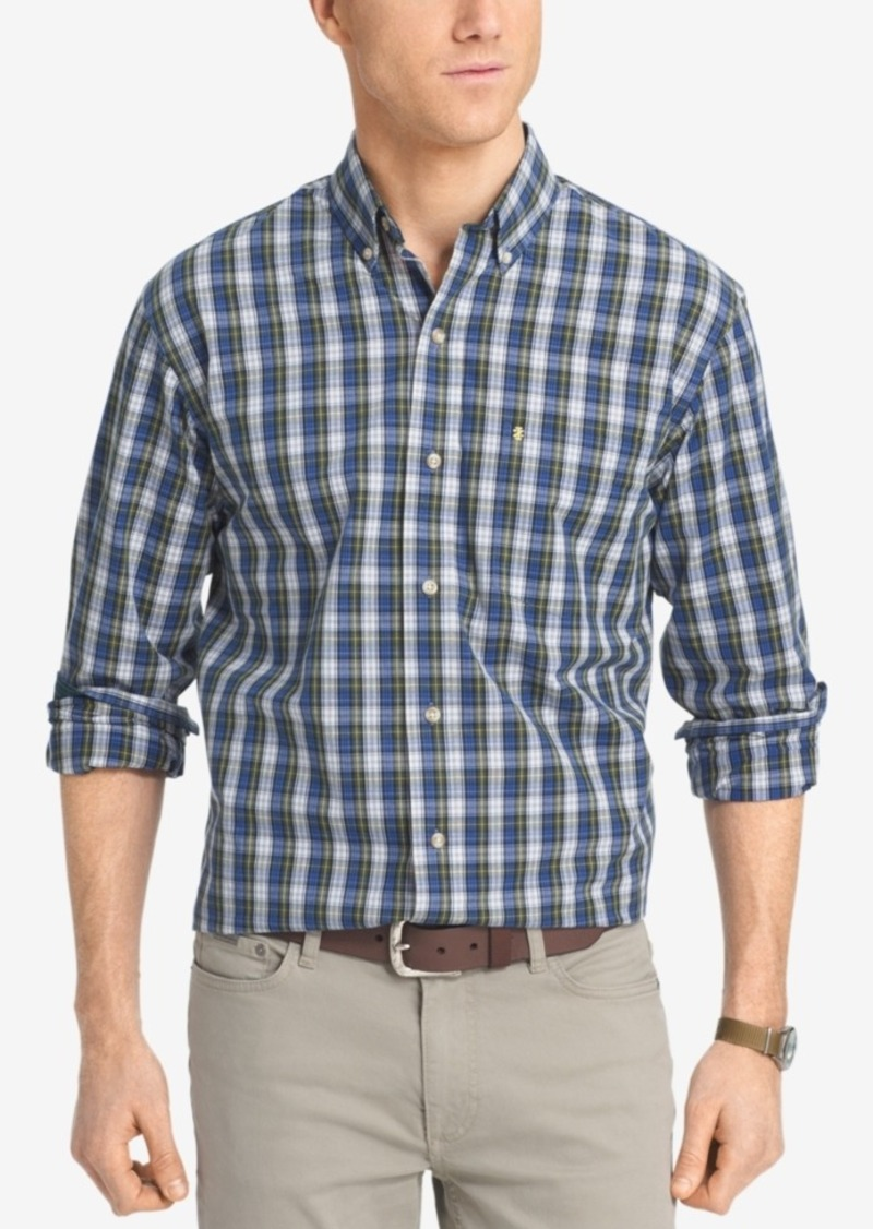 Izod Men's Big & Tall Non-Iron Plaid Shirt