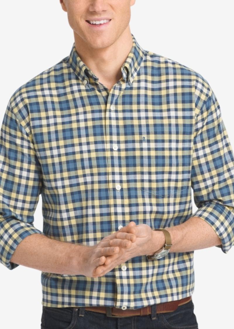 Izod Men's Big and Tall Check Long-Sleeve Shirt