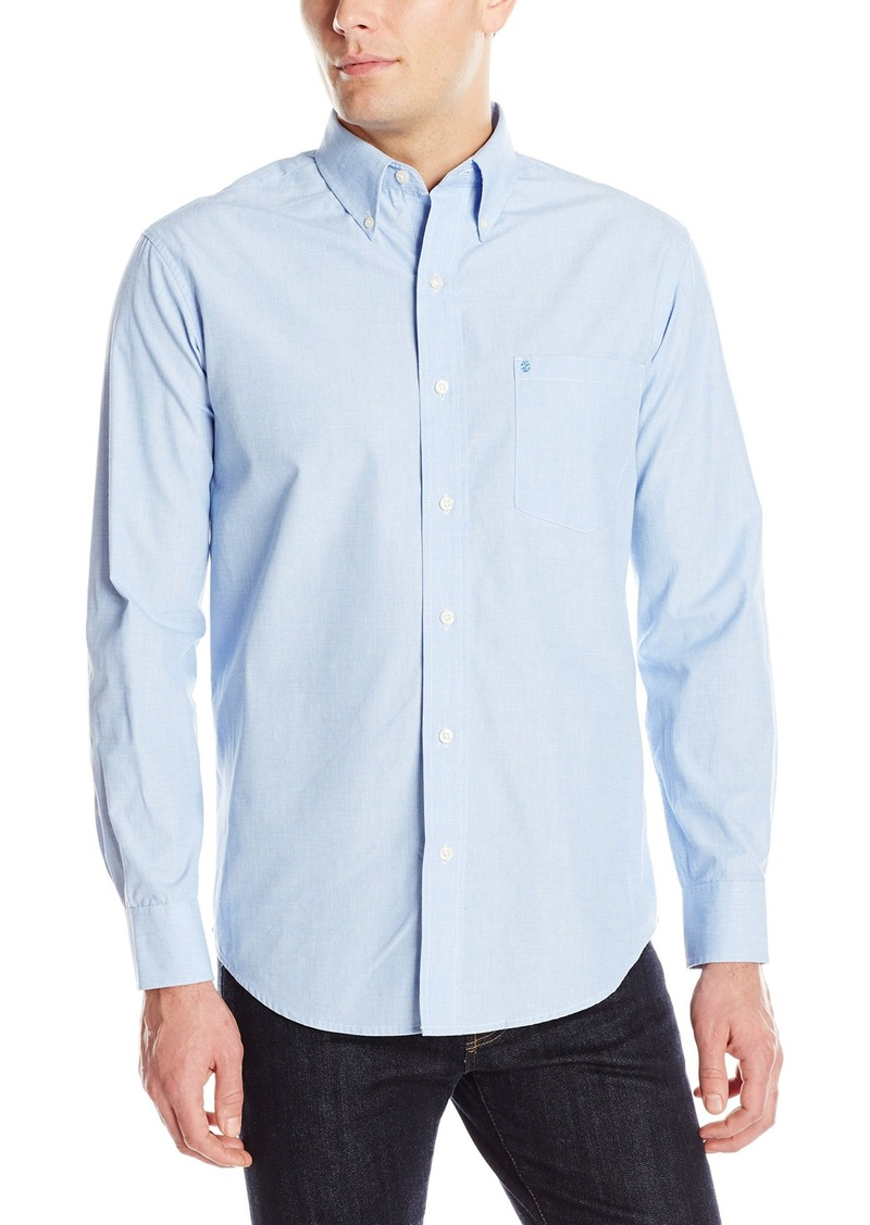 IZOD Men's Big and Tall Essential Solid Long Sleeve Shirt American Dream 4X-Large Big