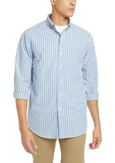 IZOD Men's Premium Performance Natural Stretch Tattersal Long Sleeve Shirt (Big & Tall and Tall Slim)